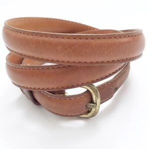 Vintage Coach Cognac Brown Leather Women's Belt L